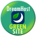 Green Hosting! This site is hosted by Dreamhost.